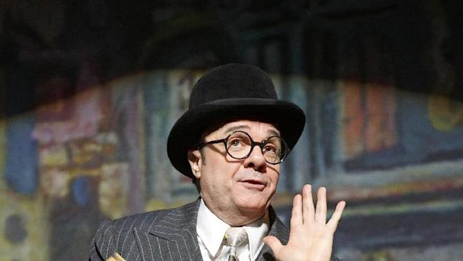 """This theater publicity image released by Lincoln Center Theater shows Nathan Lane in """"The Nance,"""" performing at the Lyceum Theatre in New York. (AP Photo/Lincoln Center Theater, Joan Marcus)"""