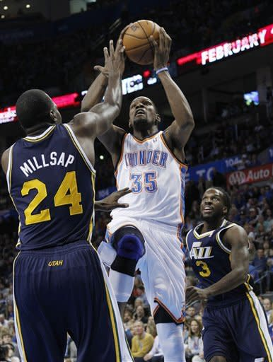 Thunder hold off Jazz 106-94, sweep homestand