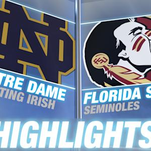 Notre Dame vss Florida State highlights