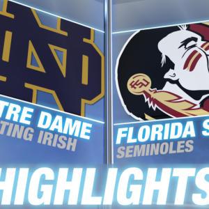 Notre Dame vss Florida State highlights