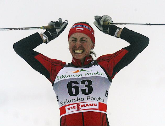 Poland's Justyna Kowalczyk Reacts AFP/Getty Images