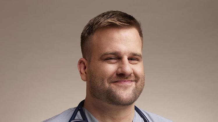 "Stephen Wallem as Thor in ""Nurse Jackie."""