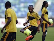 Angola midfielder Gilberto Amaral during a team training session in Durban on January 22, 2013. Angola are seeking a first victory over South Africa in the premier African national-team competition having lost in 1996