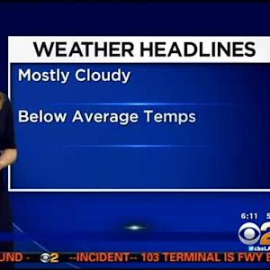 Evelyn Taft's Weather Forecast (May 20)