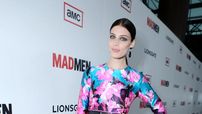 IMAGE DISTRIBUTED FOR AMC -Jessica Pare attends the AMC Season 6 Premiere of Mad Men on Wednesday, March, 20, 2013 in Los Angeles. (Photo by Alexandra Wyman/Invision for AMC/AP Images)