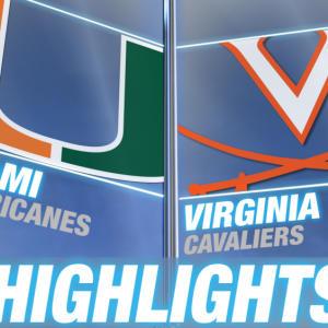 Miami vs Virginia | 2014 ACC Football Highlights