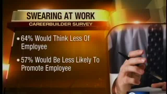 Study: Swearing at work affects career