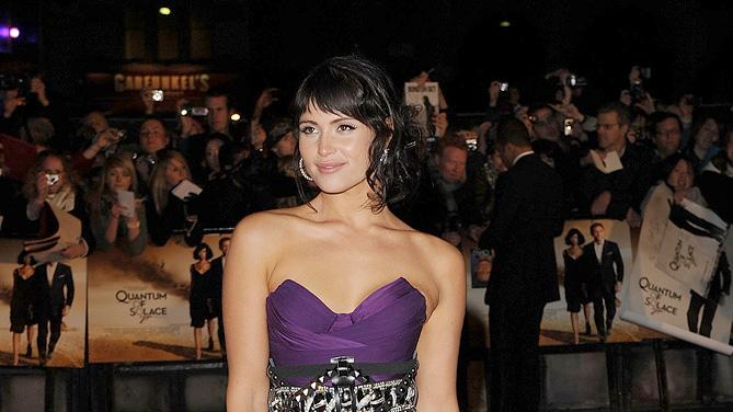 Quantum of Solace UK premiere 2008 Gemma Arterton
