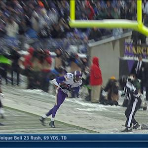 Minnesota Vikings wide receiver Jerome Simpson 8-yard TD catch