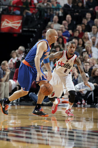 Lillard leads Blazers' 105-90 rout of Knicks