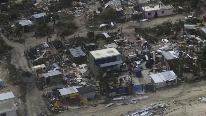 A general view shows damaged house in San Jose del Cabo, after Hurricane Odile hit Baja California
