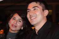 Jennylyn Mercado and Luis Manzano the 8th ENPRESS Golden Screen TV Awards 2011 held at Teatrino, Promenade mall in San Juan City, Philippines, 29 November 2011. (Jerome Ascano/NPPA Images)