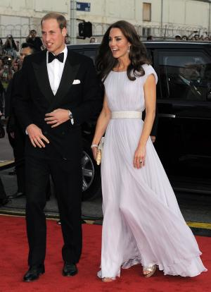 Prince William and Kate, the Duke and Duchess of Cambridge, arrive at the inaugural BAFTA Brits to Watch 2011 event at the Belasco Theater in Los Angeles, Saturday, July 9, 2011. (AP Photo/Chris Pizzello)