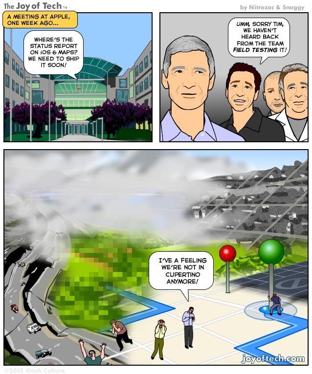 Is Apple Mapping an Alternative Universe? [SUNDAY COMICS]