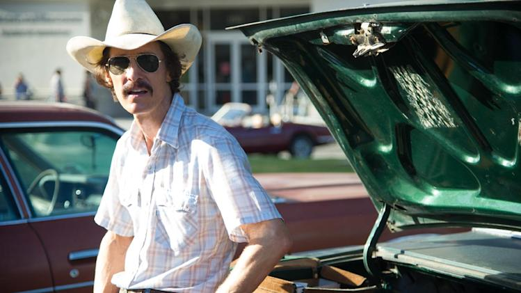"This image released by Focus Features shows Matthew McConaughey as Ron Woodroof in a scene from ""Dallas Buyers Club."" (AP Photo/Focus Features, Anne Marie Fox)"