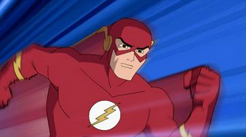 The Flash (voiced by Neil Patrick Harris ) in Warner Premiere's Justice League: The New Frontier