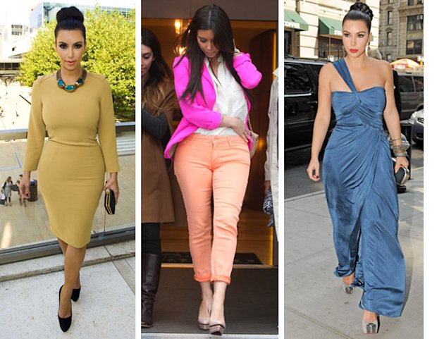 Kim Kardashian Kanye West Monochrome Style Fashion