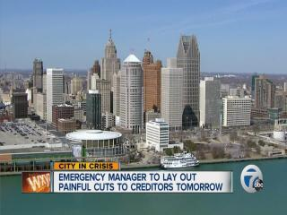 Emergency manager to lay out painful cuts to creditors tomorrow
