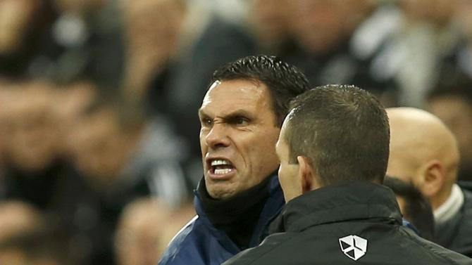 Sunderland manager Gustavo Poyet reacts during their English Premier League soccer match against Sunderland at St James' Park in Newcastle