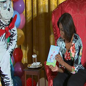 First Lady Touts Fitness With Dr. Seuss