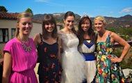 Bride-to-be Sara pictured with shower hosts Ryan, Jill, Susan and Stacey -- Access Hollywood