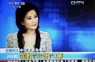 A TV grab from CCTV taken on May 7, shows He Jia, an anchor for China Central Television&#39;s news broadcast, when she claimed the Philippines as part of China during a late broadcast that has been repeatedly replayed on the Internet