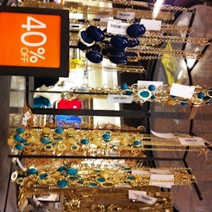 Jewelry was 40% off at the Banana Republic outlet.