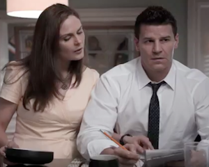 Exclusive LOL Bones Video: Booth Outsmarts Brennan with a Tale of a Fateful Trip