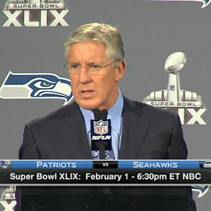 Seattle Seahawks head coach Pete Carroll: 'Cornerback Richard Sherman and safety Earl Thomas are scheduled to play'