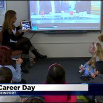 Natalie Nyhus Rocks Newport School's Career Day