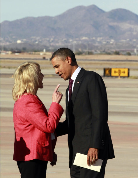 BREAKING:  Barack Obama Gets Into Fist Fight With Female Arizona Governor Jan Brewer