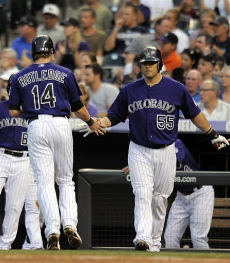 Rockies RHP White homers in 6-5 win over Giants