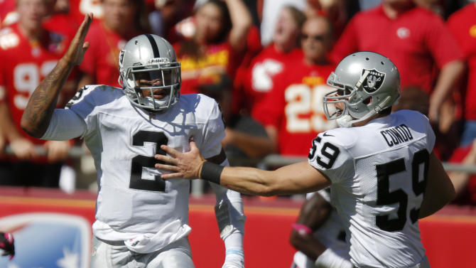 Raiders to stick with Pryor at quarterback
