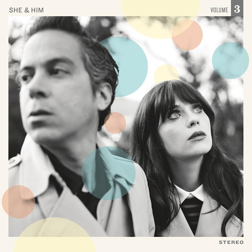"This CD cover image released by Merge Records shows ""Volume 3,"" by She & Him. (AP Photo/Merge Records)"