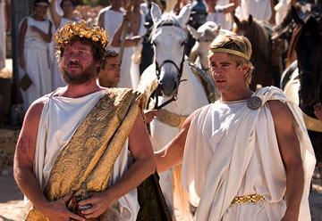 King Philip ( Val Kilmer ) and Alexander ( Colin Farrell ) in Warner Bros. Alexander