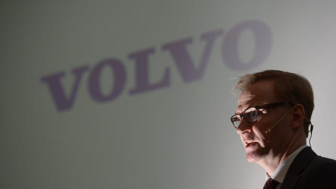 Volvos Chief Executive Olof Persson speaks during a news conference Wednesday Feb. 6, 2013,  presenting financial results for the fourth quarter 2012. Swedish truck maker AB Volvo saw profits tumble in the fourth quarter as sales slumped 17 percent on weakening demand in key markets. (AP Photo/Janerik Henriksson) SWEDEN OUT