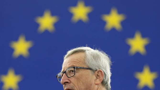European Commission President Juncker arrives to address the European Parliament to present a plan on growth, jobs and investment in Strasbourg