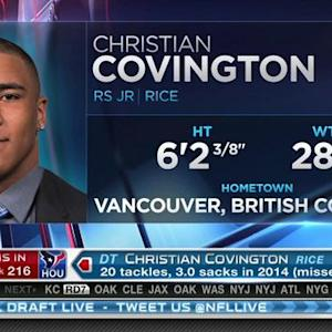 Houston Texans pick defensive tackle Christian Covington No. 216 in 2015 NFL Draft