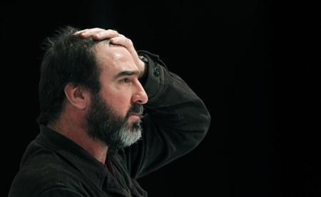 Former soccer player Eric Cantona takes part in a conference of the Global Sports Forum in Barcelona