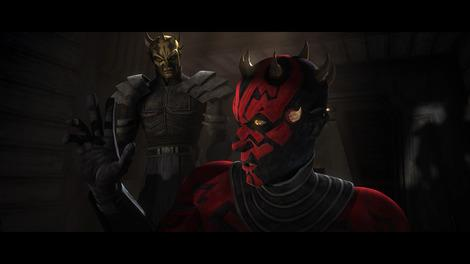 "Savage Opress and Darth Maul in ""Star Wars: The Clone Wars."" 2012-Lucasfilm-Used with permission."