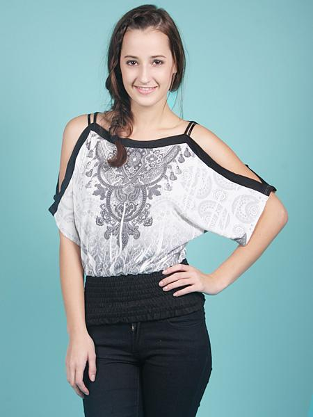 Shoulder Cut Top at Papaya