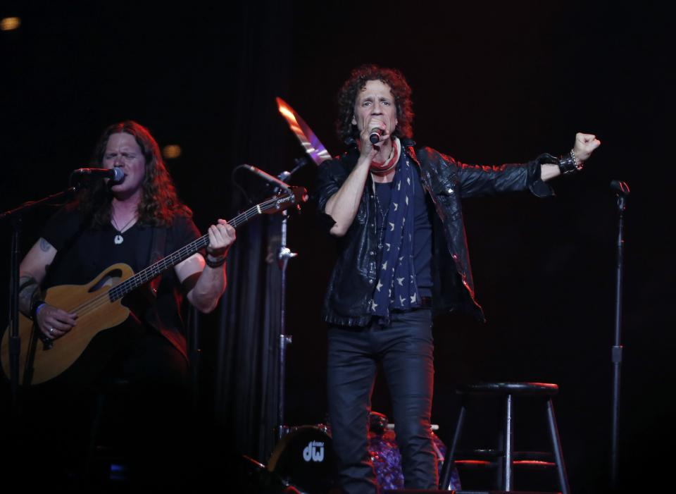 Gary Cherone, lead singer of American band Extreme performs at the Boston Strong Concert: An Evening of Support and Celebration at the TD Garden on Thursday, May 30, 2013 in Boston. (Photo by Bizuayehu Tesfaye/Invision/AP)