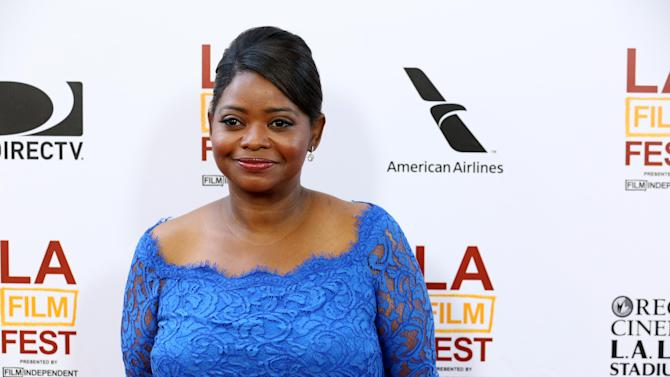 """FILE - This June 17, 2013 file photo shows actress Octavia Spencer at The LA Film Festival's gala screening of """"Fruitvale Station"""" in Los Angeles. The film, released in select theaters last week and opening wide next weekend, tells the story of Oscar Grant, an unarmed black man shot to death by a white police officer in a San Francisco train station on New Year's Day, 2009. The officer was convicted of involuntary manslaughter and served 11 months in prison. It was Spencer's first high-profile role since her Academy Award-winning role as a feisty maid in the racial dramedy """"The Help."""" (Photo by Alexandra Wyman/Invision/AP, File)"""