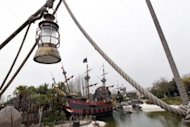 The Pirates Bay at the Disneyland park in Chessy, outside Paris. French theme parks in general have done well amid Europe&#39;s debt crisis, offering a fairly low-cost escape for families, and Disney reported a record 15.7 million visitors in its fiscal year that ended on September 30, 2011