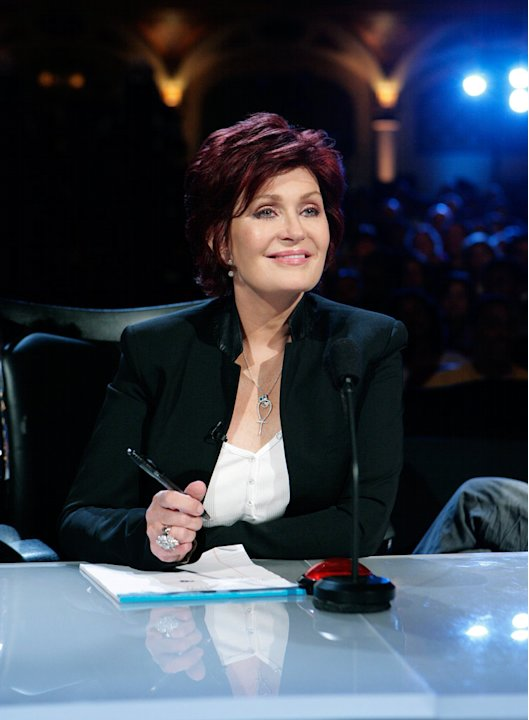 Sharon Osbourne judges the contestants on America's Got Talent.