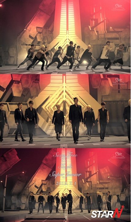The teaser video of Super Junior's new album released