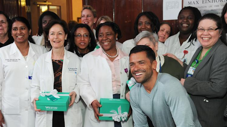"Westin Hotels & Resorts And Mark Consuelos Launch ""Make Monday Better"" Campaign With Surprise Giveaway At Lenox Hill Hospital"