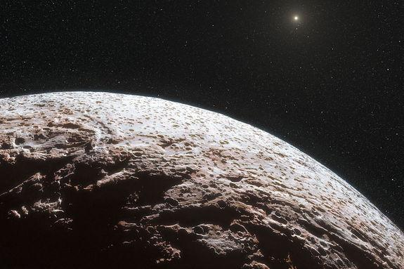 Dwarf Planet Beyond Pluto Lacks Atmosphere