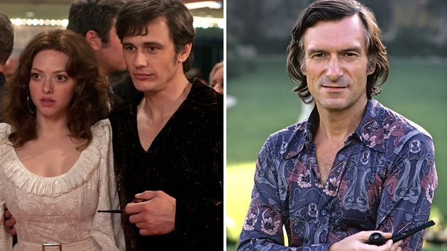 Amanda Seyfried and James Franco in 'Loveless,' and the real Hugh Hefner in 1973
