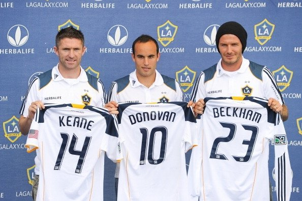 Robbie Keane, Landon Donovan, David Beckham (Getty Images/Noel Vasques)